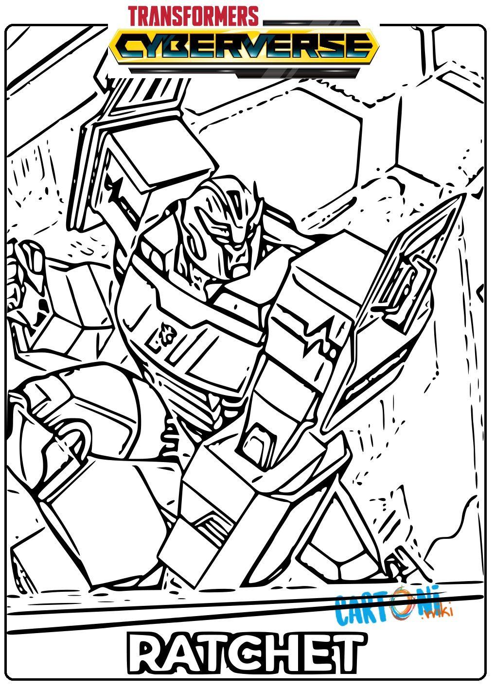 Transformers Cyberverse Disegno Ratchet Da Colorare E Stampare Per