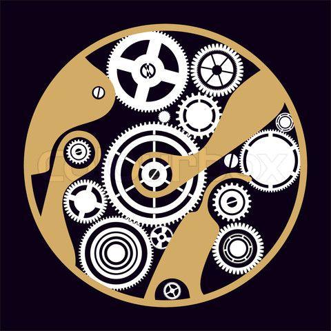 Vector of cog, gear, clock | GEARS | Steampunk design ...