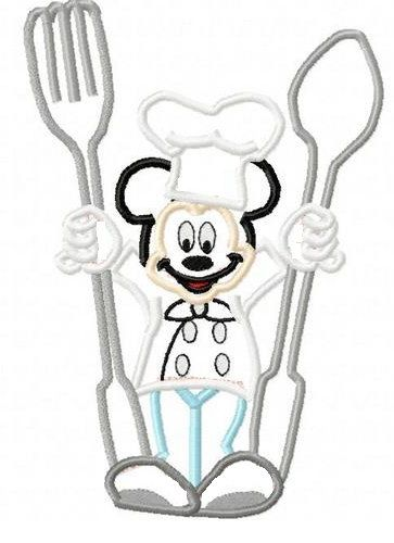 Chef Mickey Mouse Full Body Applique Machine by