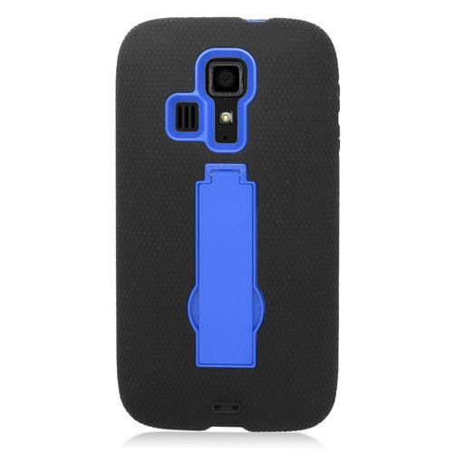 Symbiosis Stand Case for Kyocera Hydro Icon / Life - Black/Blue