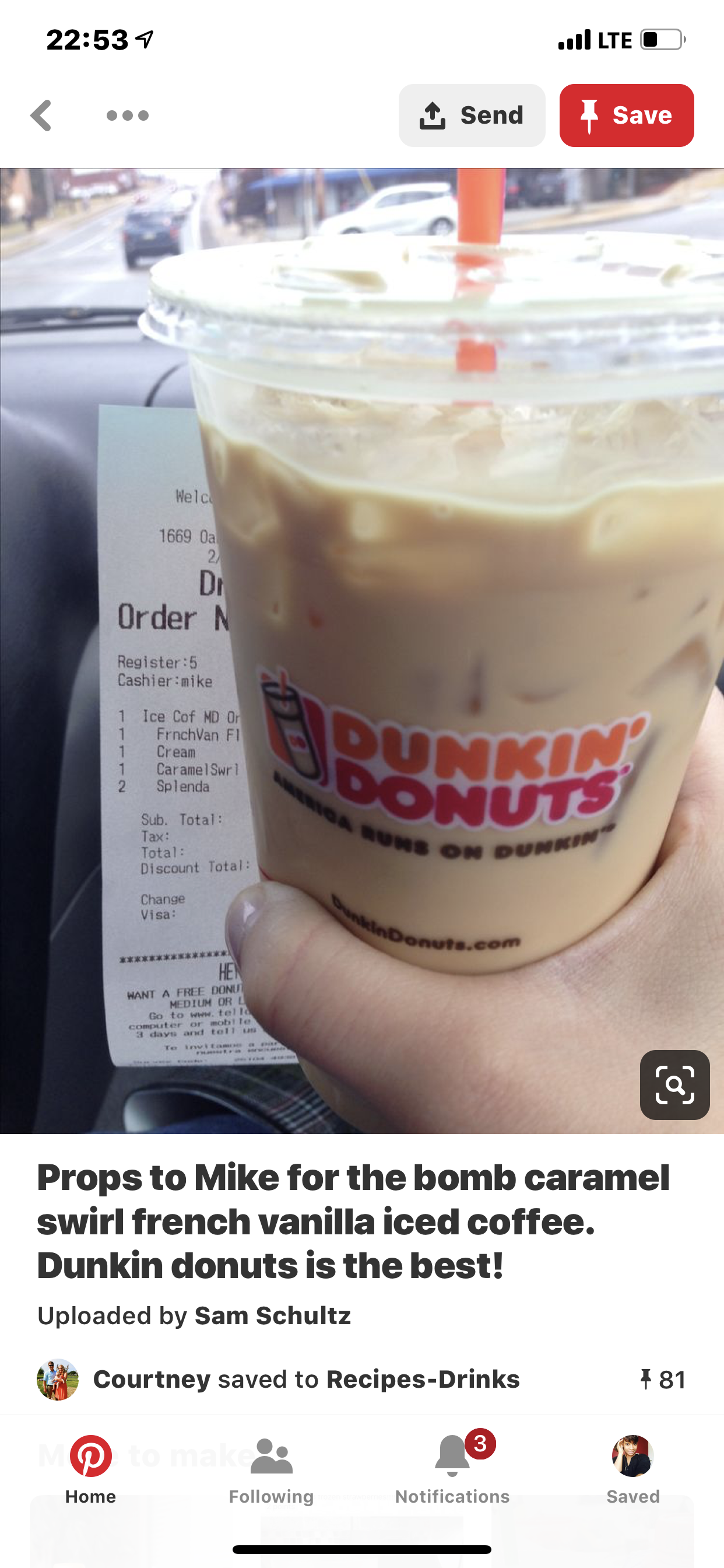 Pin by Monique D on Coffee Dunkin donuts iced coffee