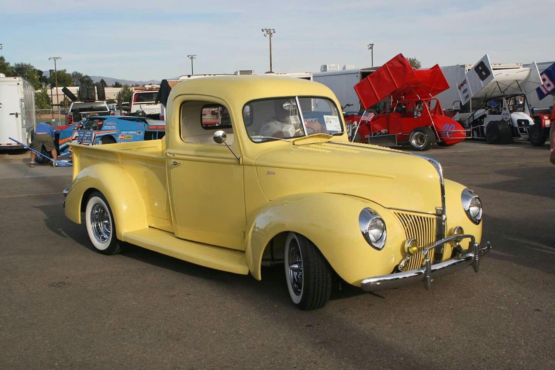 Yellow Pickup With Images Classic Pickup Trucks Pickup Trucks