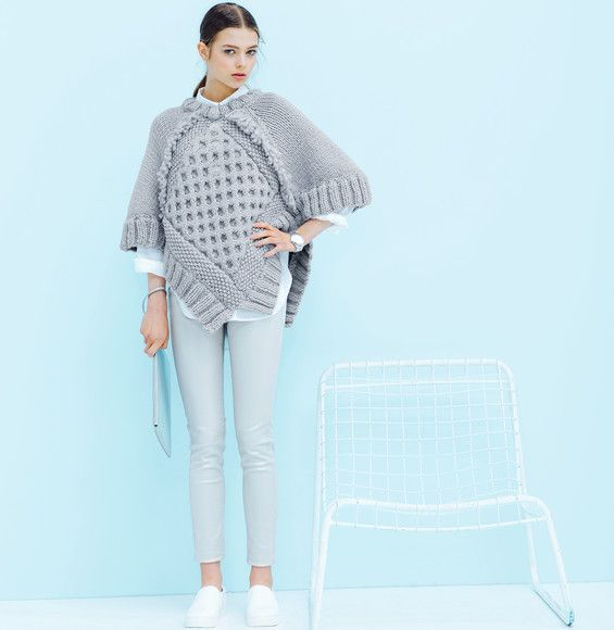 Modèle pull-poncho Alaska Femme - Modèles Femme - Phildar