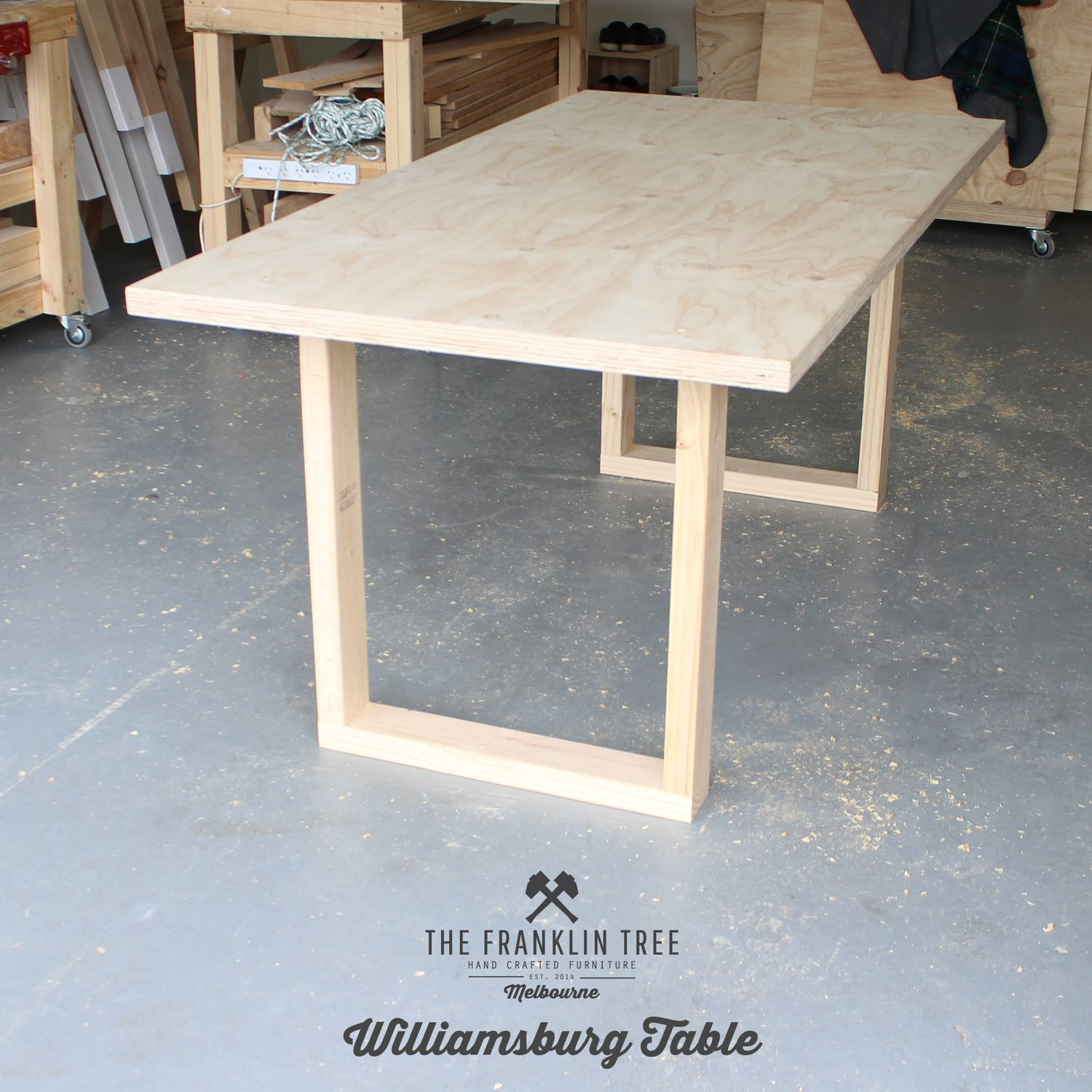 Image Of Williamsburg Dining Table Plywood Design De