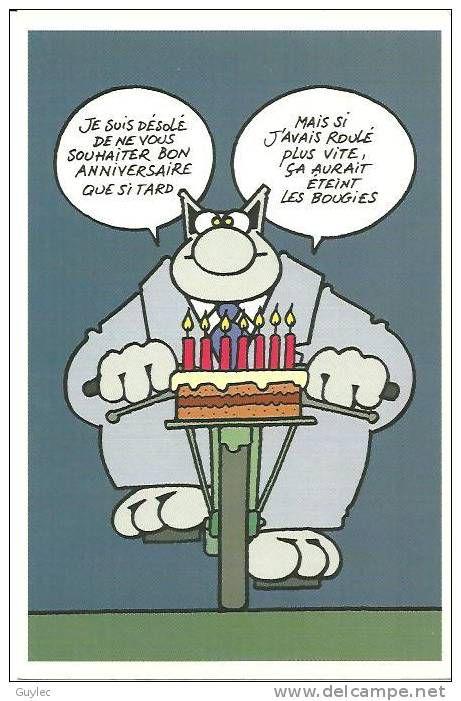 Le Chat De Philippe Geluck Carte Anniversaire Item Number