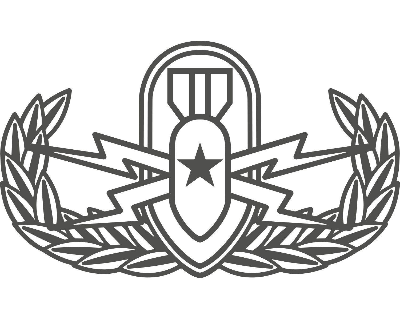 Senior Eod Badge Vinyl Decal