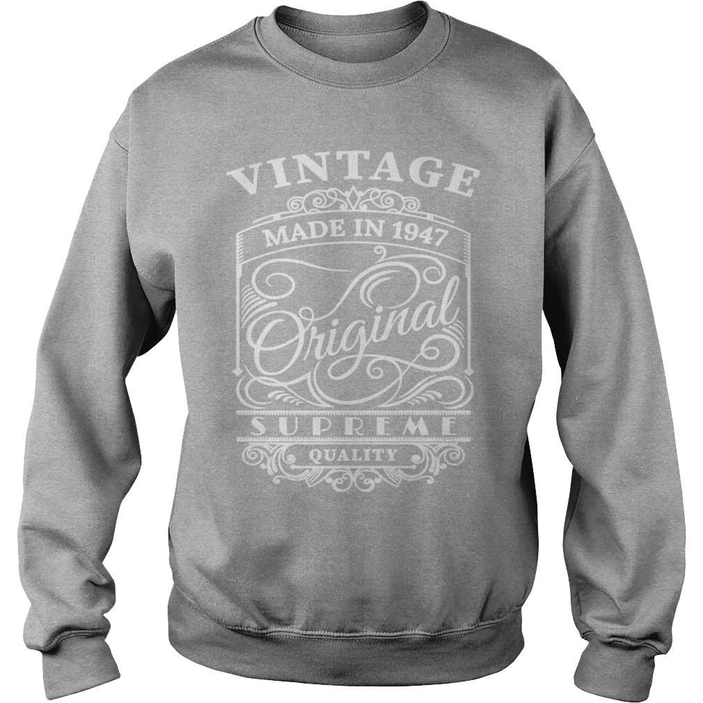 Vintage Made in 1947 Original T-Shirt #gift #ideas #Popular #Everything #Videos #Shop #Animals #pets #Architecture #Art #Cars #motorcycles #Celebrities #DIY #crafts #Design #Education #Entertainment #Food #drink #Gardening #Geek #Hair #beauty #Health #fitness #History #Holidays #events #Home decor #Humor #Illustrations #posters #Kids #parenting #Men #Outdoors #Photography #Products #Quotes #Science #nature #Sports #Tattoos #Technology #Travel #Weddings #Women