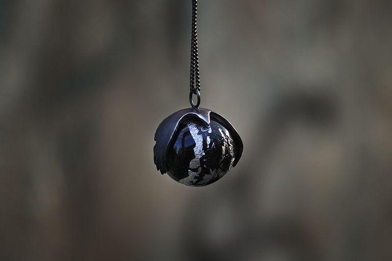 Хранитель Тьмы Cеребро, серебросодержащее стекло ручной работы от Сильвер Анна 2500р