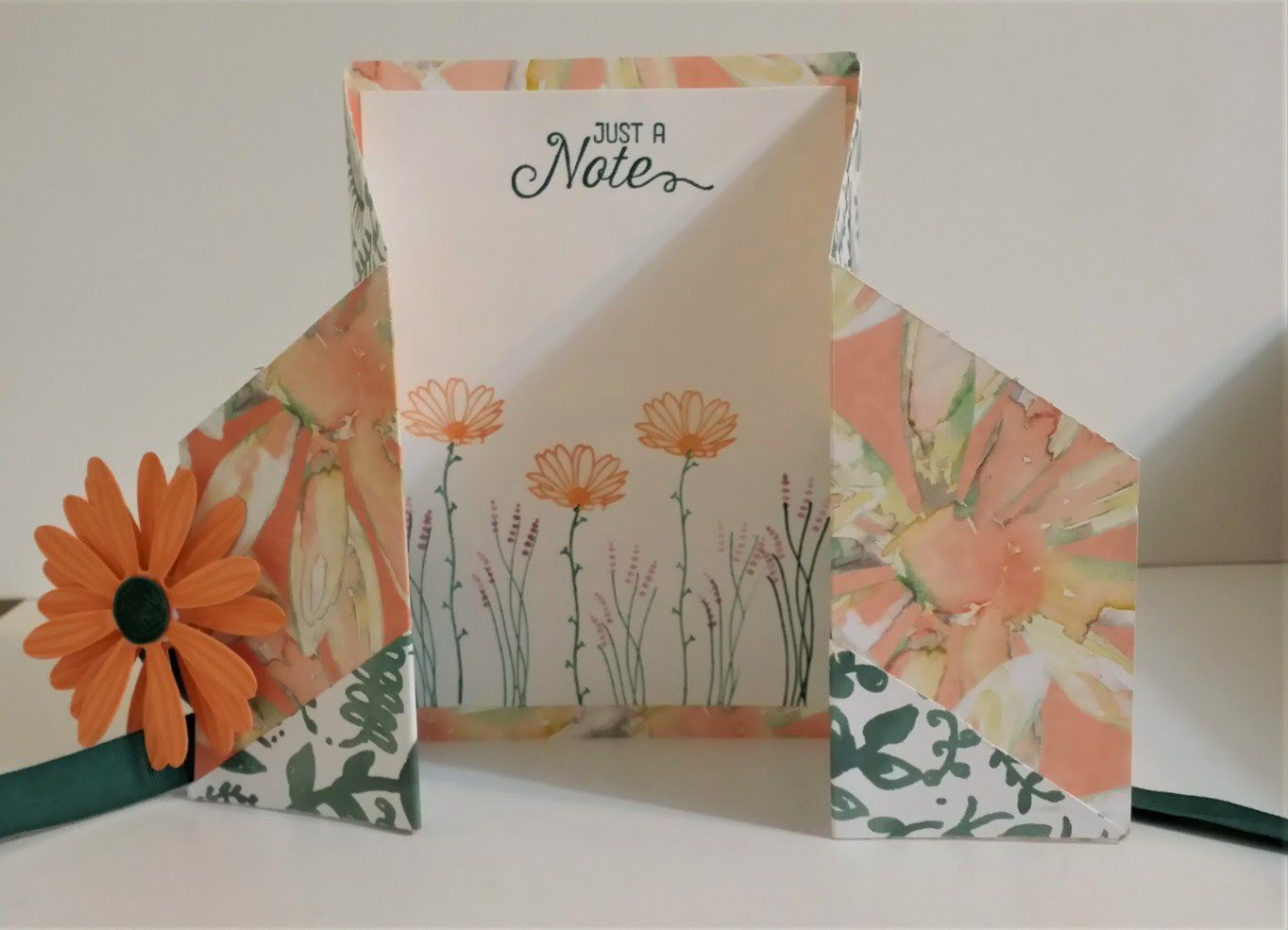 gatefold inside  flower cards daisy fancy folds