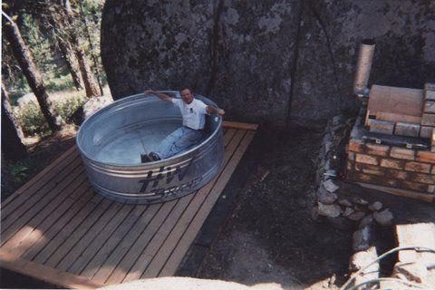 Cowboy Hot Tub On A Deck Stock Tank Pool Diy Stock Tank Pool Stock Tank