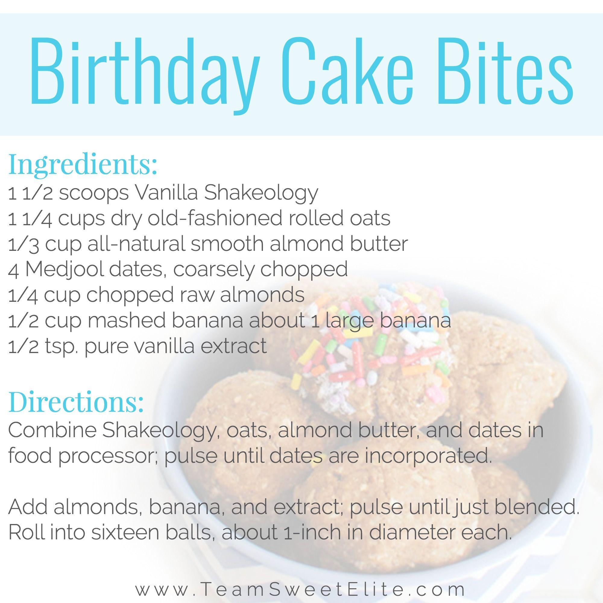 Shakeology Recipe Birthday Cake Energy Balls (With images