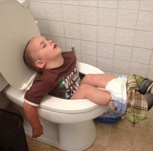 Image result for kid using toilet first time