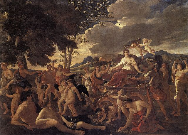 THE TRIUMPH OF FLORA. oil on canvas. 165 × 241 cm. Provenance : painted for Cardinal Aluigi Omodei as described by Bellori; in the collection of Louis XIV in 1684 /1685. Bibliografia : Blunt 154; Thuilllier 48. Exhibited : 1960, Paris, n. 31.