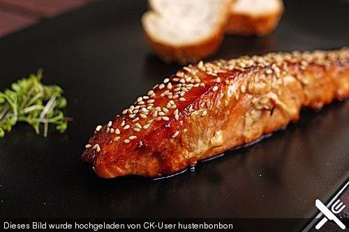Japanischer gegrillter Lachs mit Teriyaki - Soße von Shimone | Chefkoch