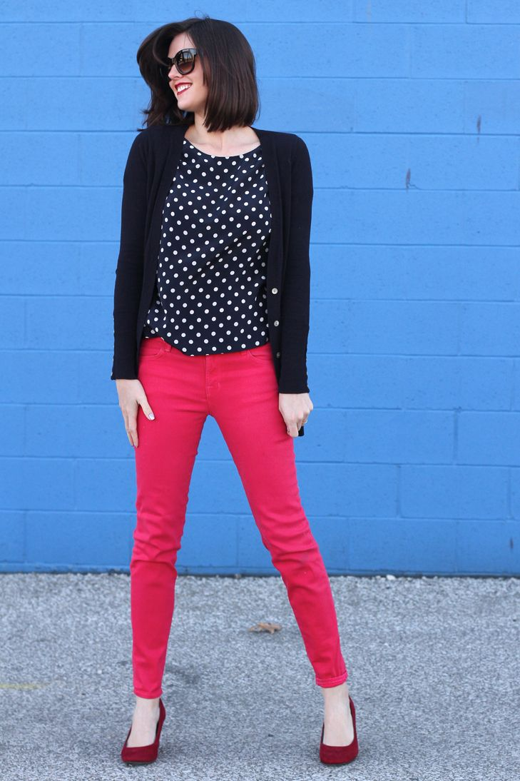 What I Wore: Seasonless | Стиль, мода | Pink jeans outfit ...