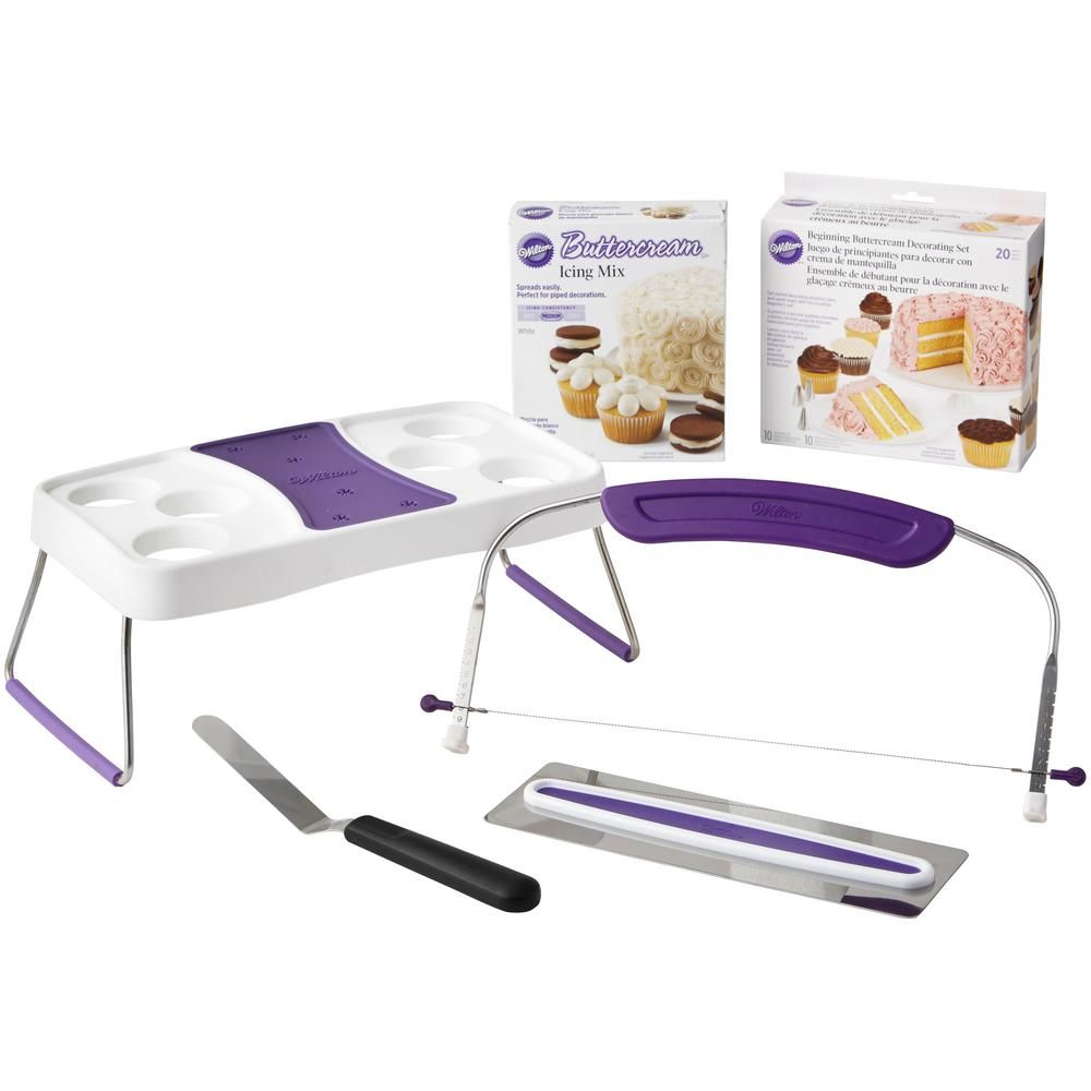Wilton Icing For Beginners Set Withcake Decorating Kit 2109 8447 The Home Depot Wilton Icing Wilton Cake Decorating Cake Decorating Tools
