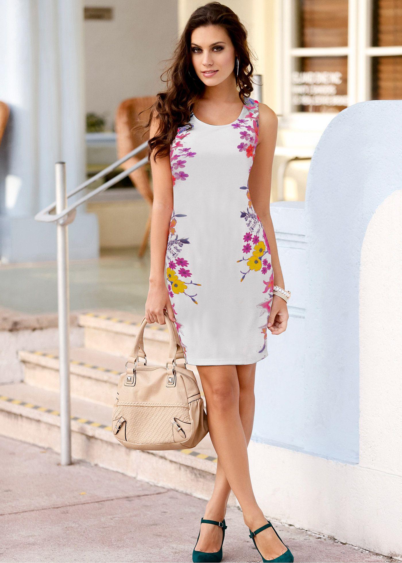 323c217929 Vestido tubinho com estampa floral | vestidos femininos | Vestidos ...