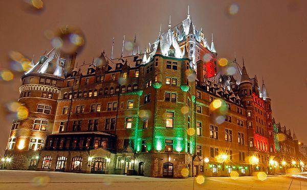 Fairmont Chateau Frontenac At Christmas Quebec City Canada Quebec City Canada Christmas Canada Christmas Quebec City
