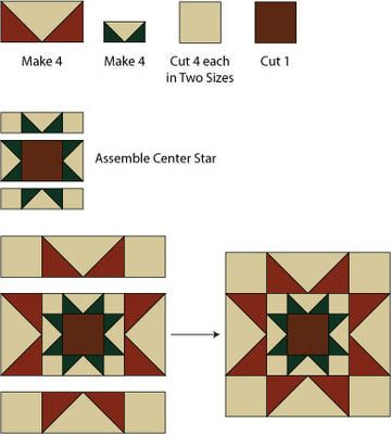 Sew Rising Star Quilt Blocks To Create A Star In A Star Design