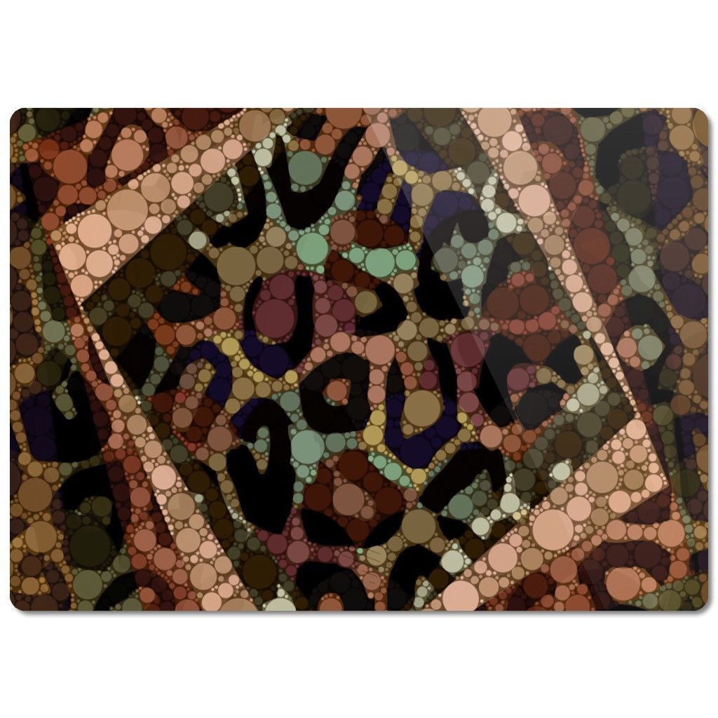 Brown Cheetah Print Bling Glass Cutting Board
