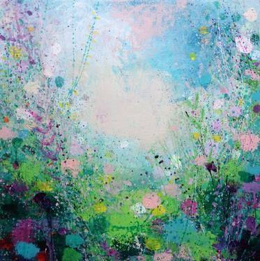 "Saatchi Art Artist Sandy Dooley; Painting, ""Summer Clouds"" #art"