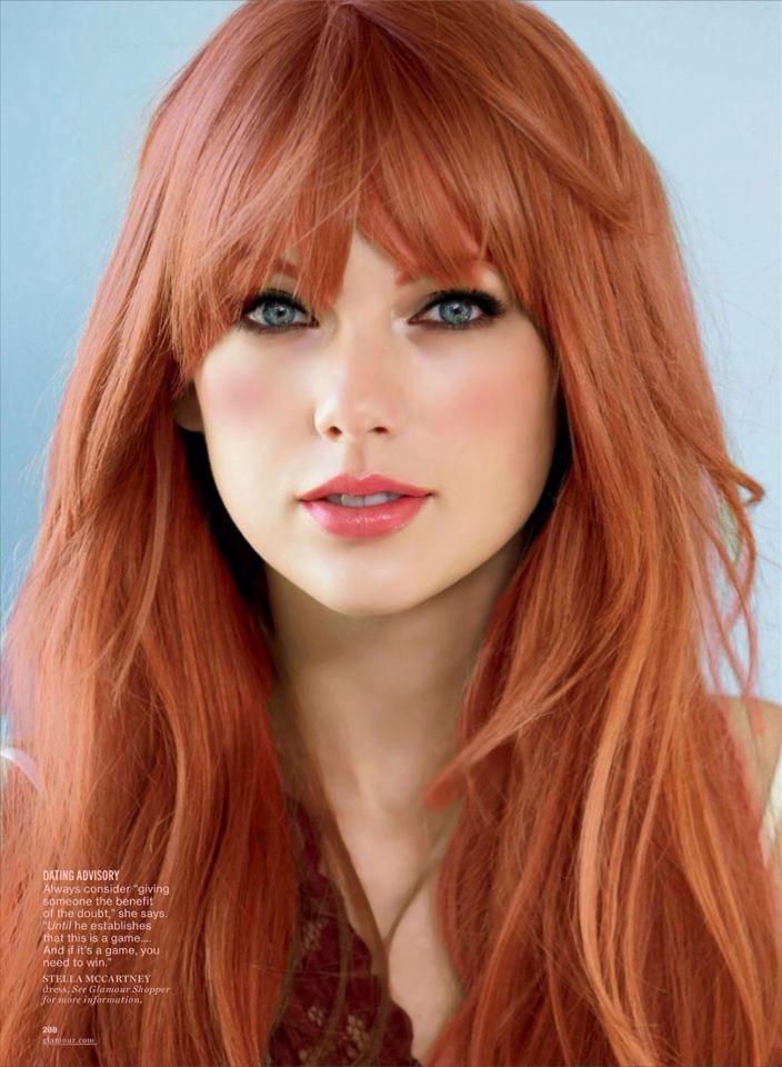 Couleur cheveux roux meche blonde