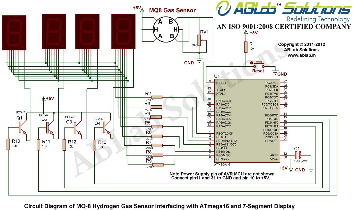 Mq 7 Circuit Diagram Introduction To Electrical Wiring Diagrams Mq7 8 Hydrogen Gas Sensor Interfacing With Avr Atmega16 Rh Pinterest Com Architecture C Spine