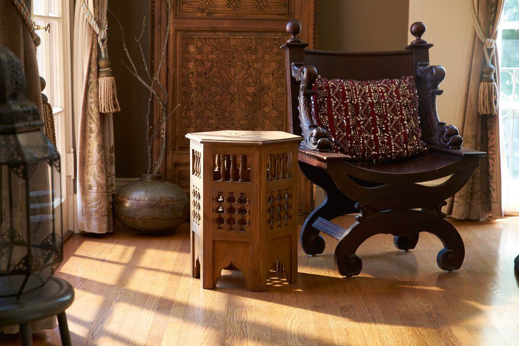Zagora Redwood Side Table