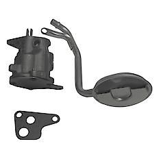 High-volume replacement oil pump. Durable cast-iron body. Outputs up to 20% more oil than a stock oil pump. Includes oil pump screen and mounting gasket set.