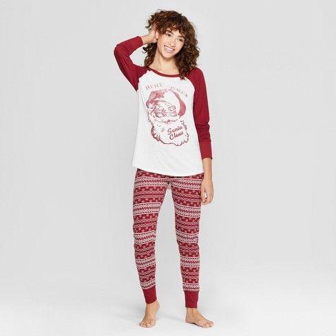 Weekend Soul Women's Holiday Super Soft Santa Pajama Set ...