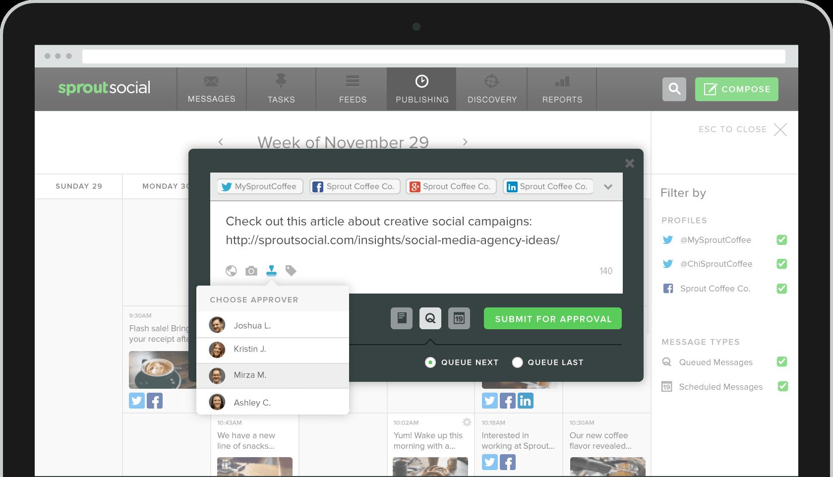 Collaboration Tools For Social Media Teams Sprout Social Sprout Social Collaboration Social Media