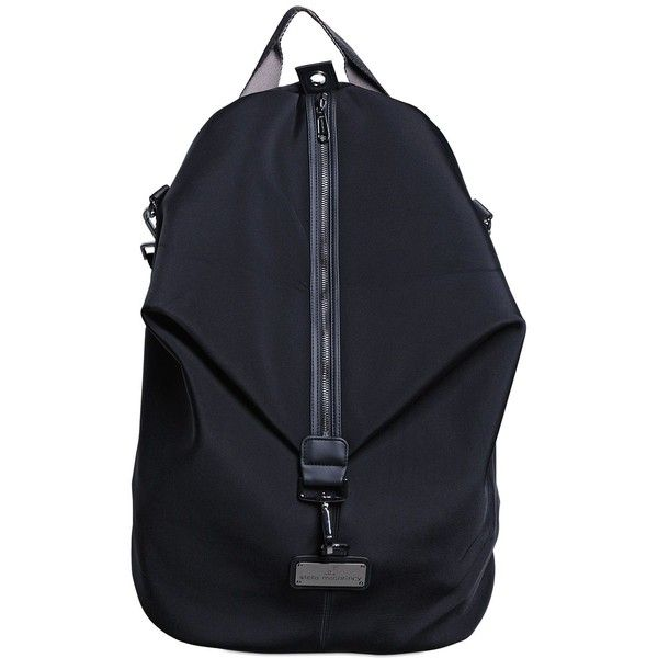 9aba0f6f69d ADIDAS BY STELLA MCCARTNEY Oversize Studio Backpack (225 AUD) ❤ liked on  Polyvore featuring bags, backpacks, black, knapsack bags, logo bags,  rucksack bag, ...