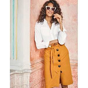 Leonora Skirt - Yellow Ochre | Boden UK