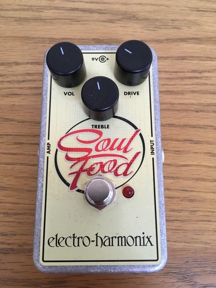 Electro harmonix soul food overdrive distortion guitar