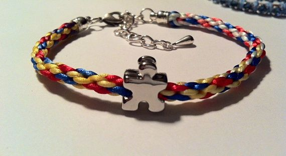 Colorful Woven Autism Awareness Bracelet by AwearnessJewels, $15.00