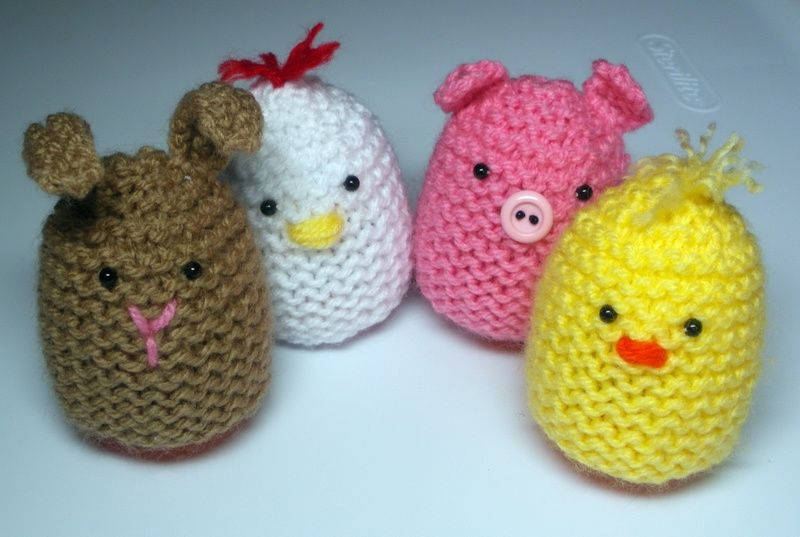 Cute Knitted Egg Covers - Audrey's Knits | Easter crochet ...