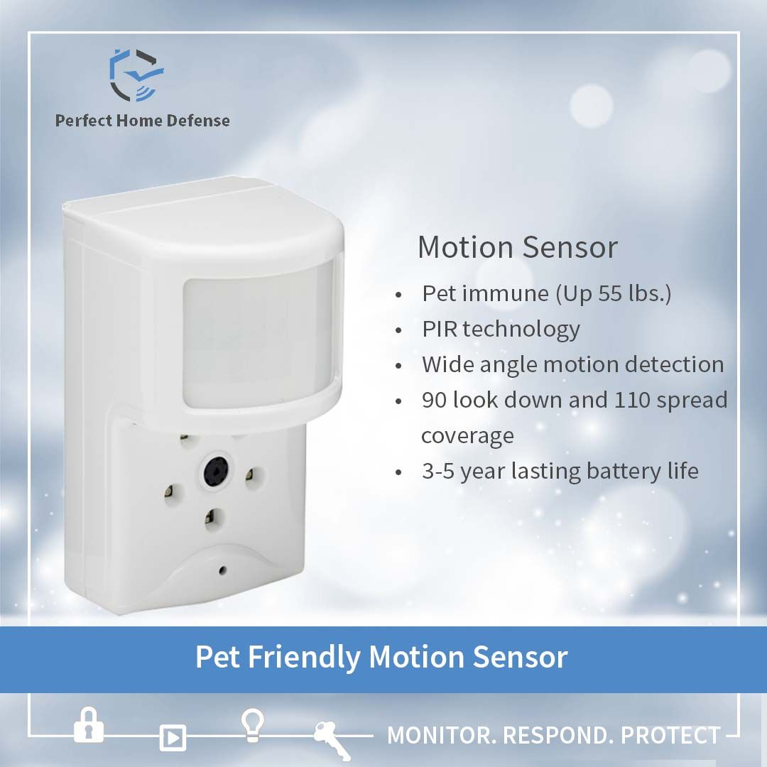 Wall Mounted Motion Detector Is An Indoor Protection Solution It Is Designed To Cover Motion Detection In Home Defense Home Automation System Home Security