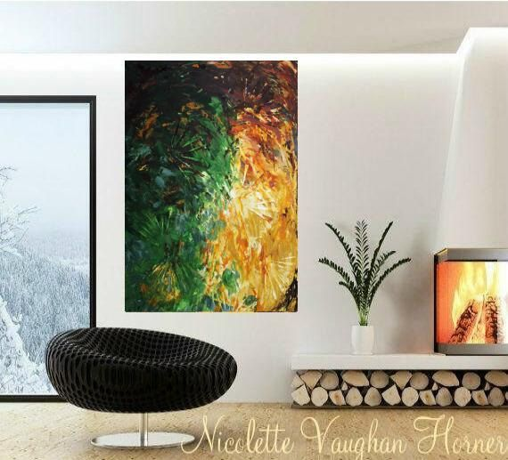 SALE ORIGINAL HUGE Abstract Landscape Oil Painting Thick