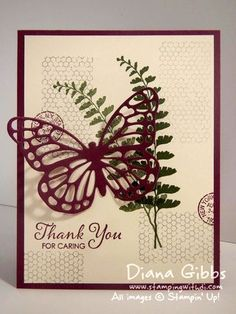 Butterfly Basics ~ Stampin' Up!  Pass the Dryer Sheet Please