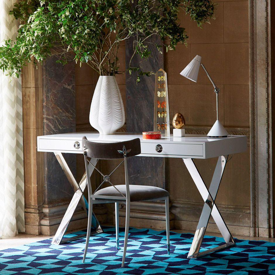 Jonathan Adler Channing Desk Zinc_door Workspace Pinterest  # Muebles Dayka Trade
