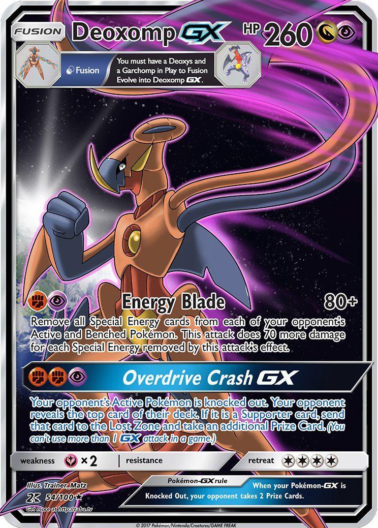 Glurak Pokemon Karte.Deoxomp Gx Fusion Custom Pokemon Card Pokemon Pokemon Karte