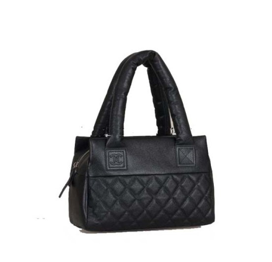Black Chanel Two flat open pockets replica Coco Cocoon Small Caviar Leather  【http://www.baycitytech.com】