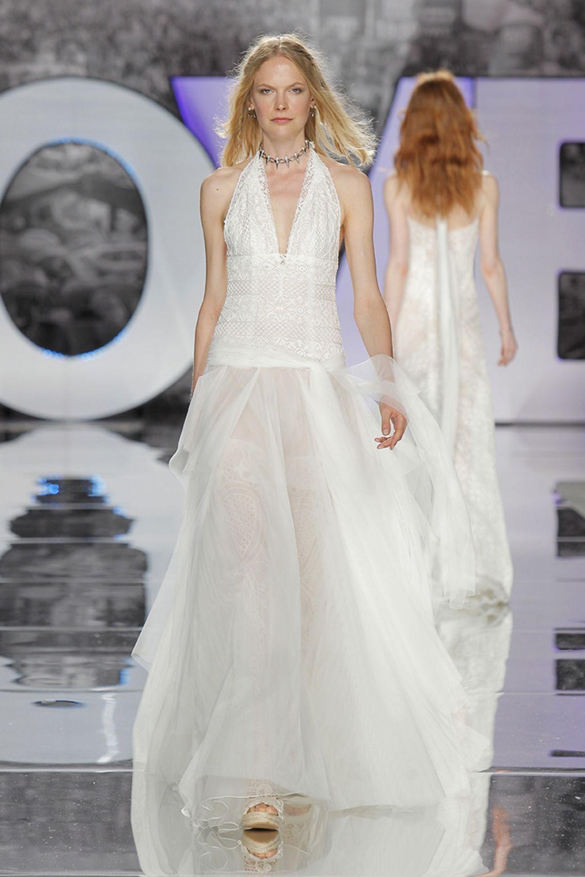 AJUSCO boho wedding dresses romantic bride dresses high fashion