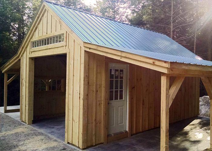 One Bay Garage Shed Garage Door Design Barns Sheds