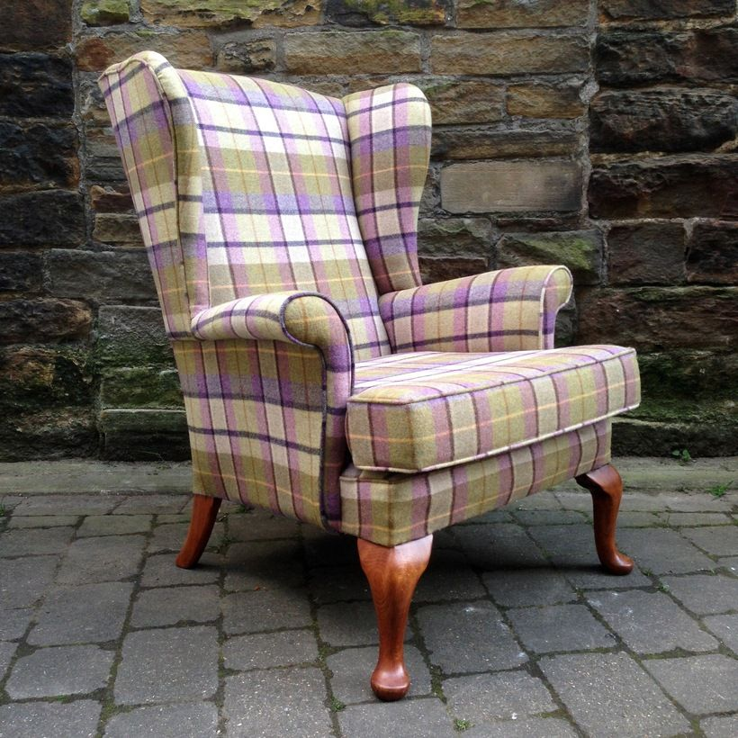 Abraham Moon Parker Knoll Wingback Armchair Reupholstered
