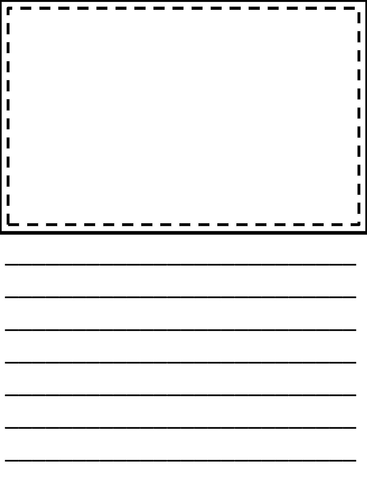 picture regarding Printable Writing Paper With Picture Box referred to as producing paper with think about box pdf  Theo Included