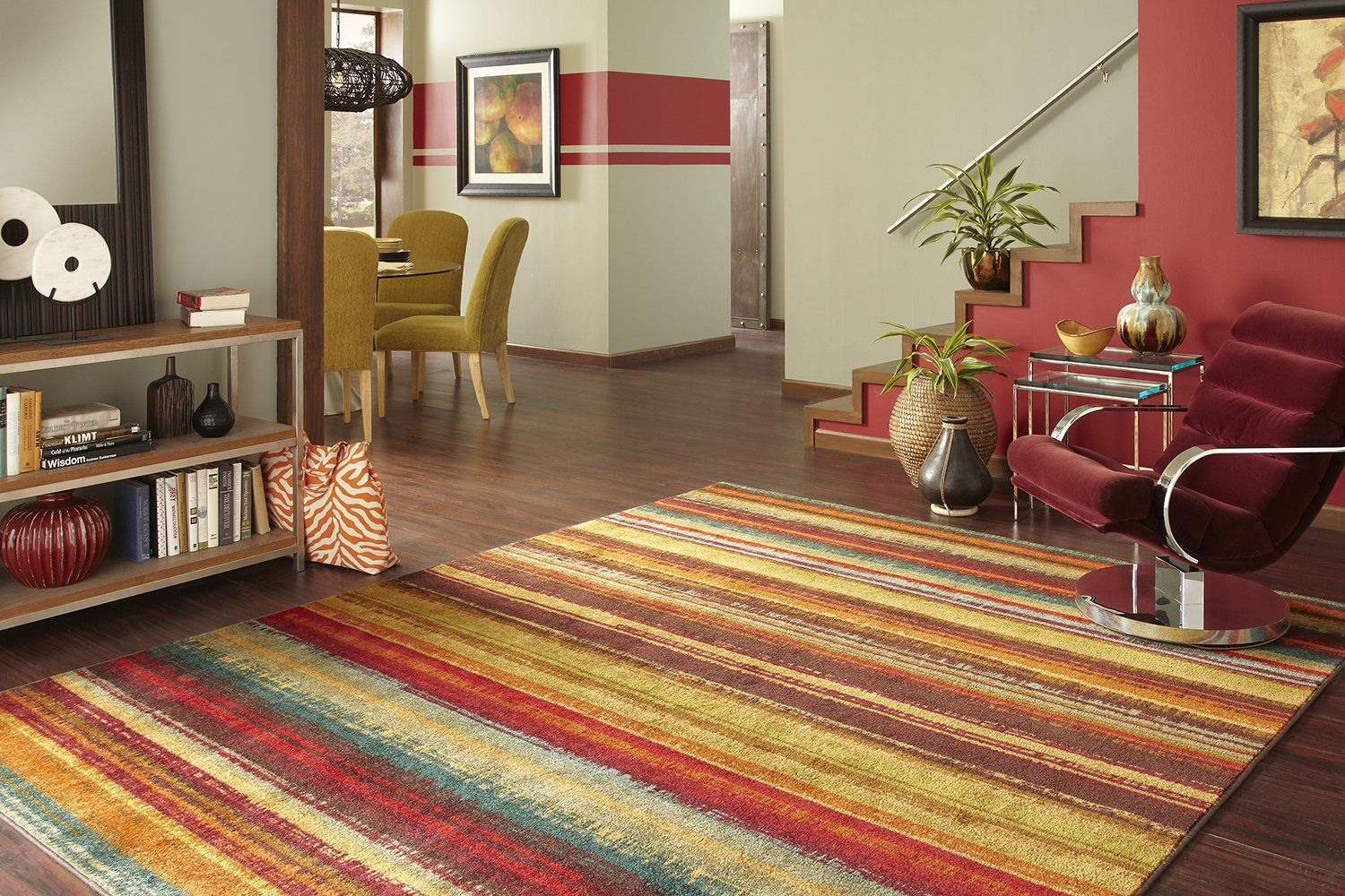 Mohawk home new wave boho stripe printed area rug x multicolor