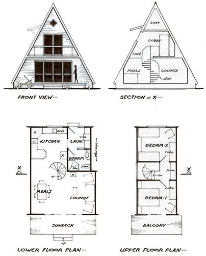 Plan For An A Frame Cottage Beachcottages Beachcottages Cottage Frame Genel A Frame Cabin Plans Cottage Plan A Frame House