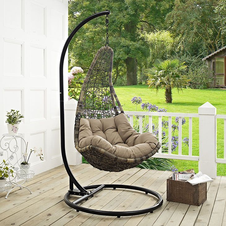Info   Colors   Dimensions Escape To A Place Of Quiet Comfort With The  Wayne Outdoor Patio Swing Lounge Chair. Made With A Luxurious Synthetic  Rattan Weave, ...