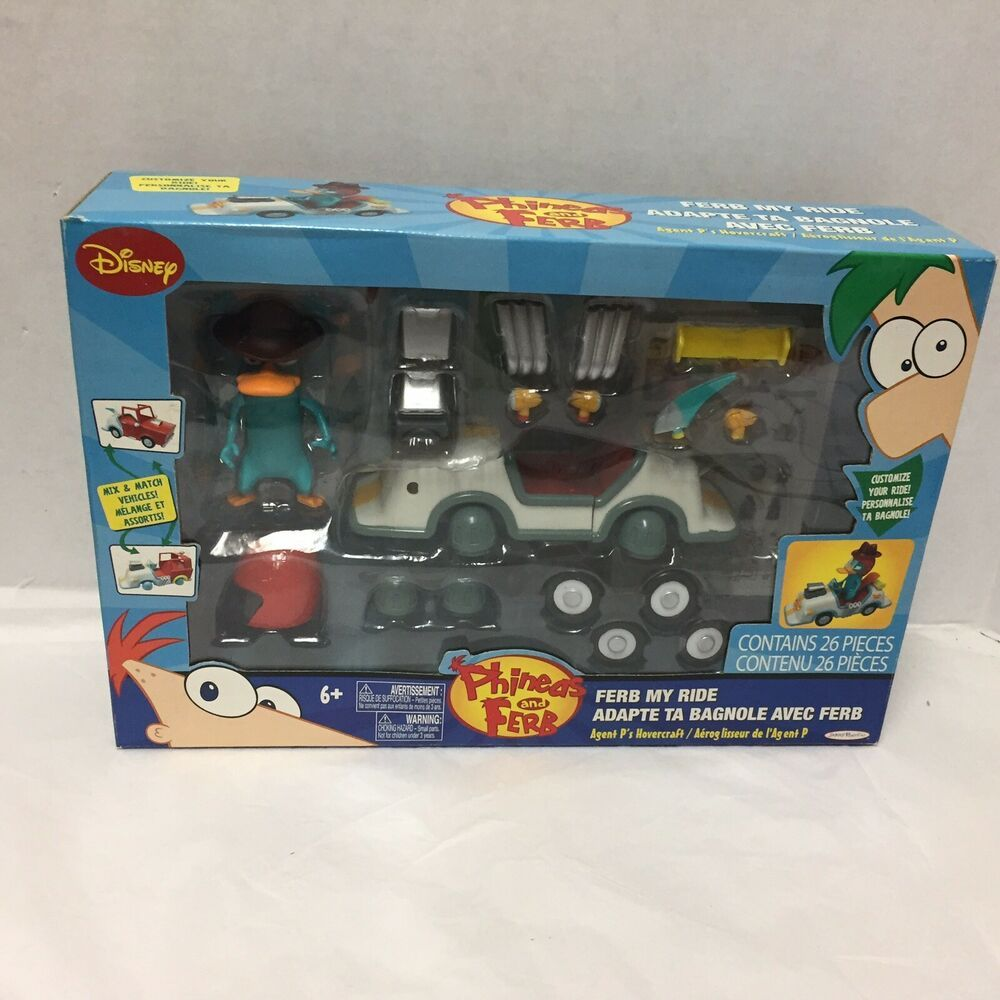 Phineas And Ferb My Ride Agent P S Hovercraft New Old Stock Disney Phineas And Ferb Charades For Kids My Ride